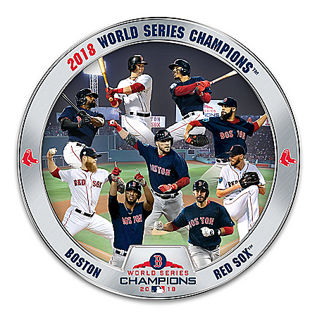 2018 MLB World Series Champions Boston Red Sox Heirloom Porcelain Collector Plate