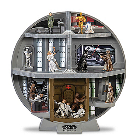 STAR WARS Death Star Diorama With 7 Classic Scenes