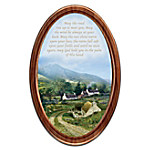 Edmund Sullivan Irish Blessings Oval-Shaped Framed Collector Plate