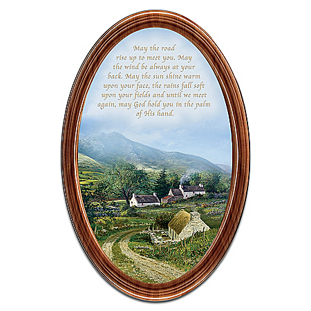 Edmund Sullivan Irish Blessings Oval-Shaped Framed Collector Plate
