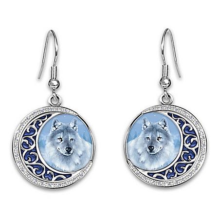 Eddie LePage Glow-In-The-Dark Earrings With Crystals