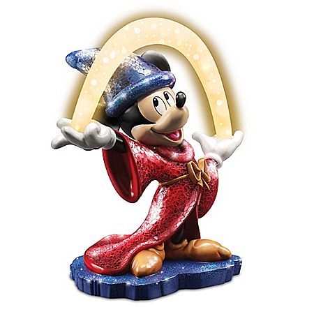 Mosaic Sorcerer's Apprentice Mickey Mouse With Lighted Arc