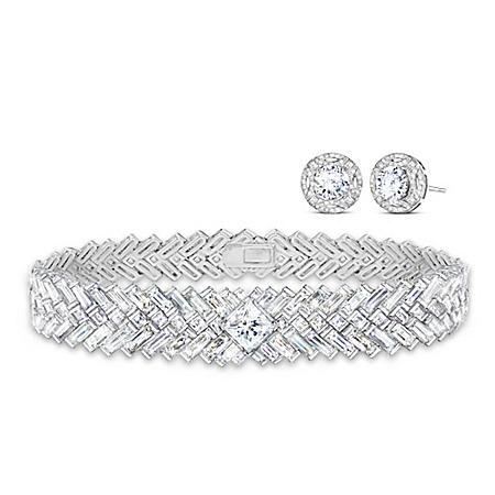 Love Reigns Royal Wedding-Inspired Diamonesk Earrings And Bracelet Set