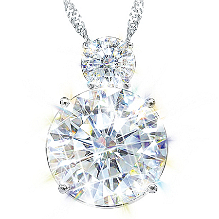 A Reflection Of My Love Women's Personalized Simulated Diamond Pendant Necklace With Heart-Shaped Charm – Personalized Jewelry