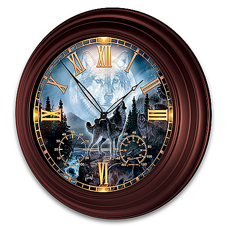 Al Agnew Majestic Presence Illuminated Atomic Wall Clock