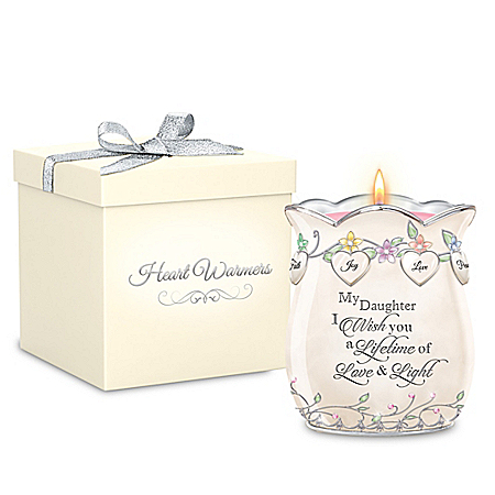 My Daughter, I Wish You Heirloom Porcelain Candleholder