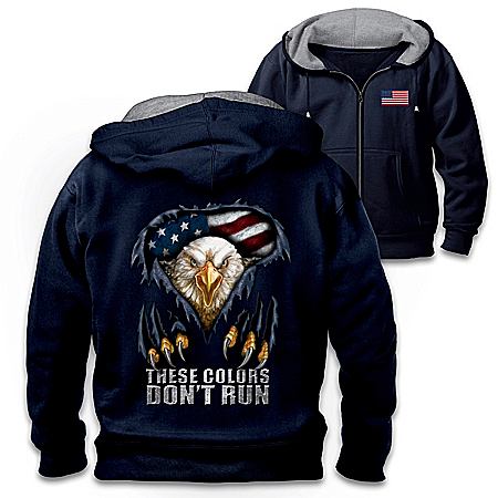 These Colors Don't Run Men's Patriotic Hooded Jacket
