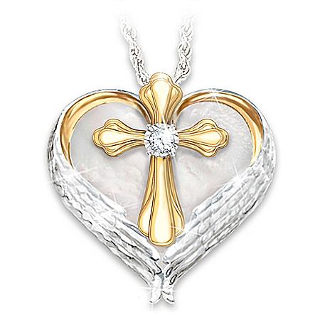 Comfort And Faith Remembrance Diamond Pendant Necklace