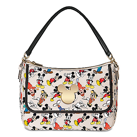Disney Women's Fashion Handbag With Mickey Mouse Art