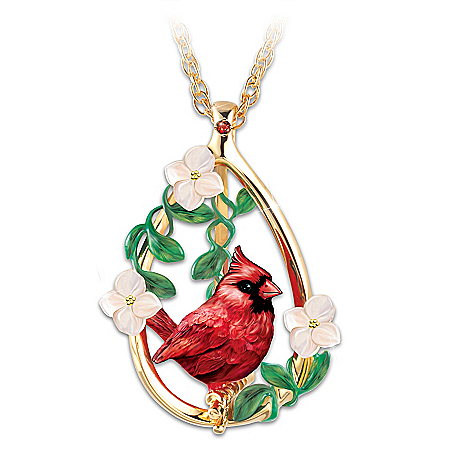 Heaven's Beauty Pendant Necklace With Genuine Garnet Gem