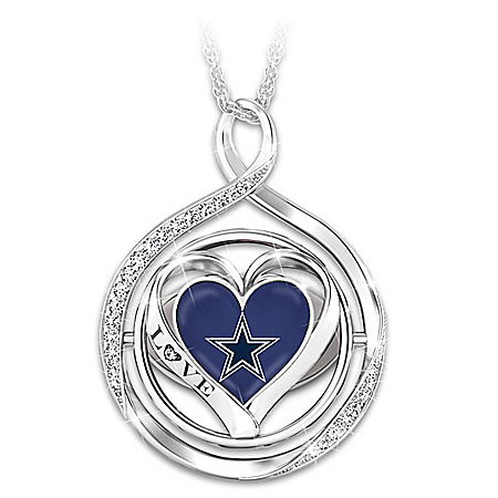 My Heart Flips For The Cowboys 2-In-1 Flip Necklace