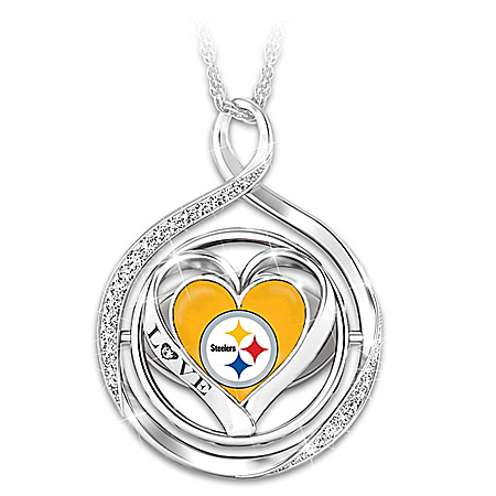 My Heart Flips For The Steelers 2-In-1 Flip Necklace