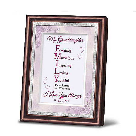 My Granddaughter, You Are One Of A Kind Personalized Poem Frame