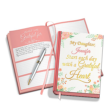 Personalized Gratitude Journal For Daughter With Elegant Pen