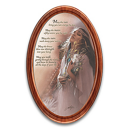 Lee Bogle The Earth's Blessings Framed Oval-Shaped Collector Plate