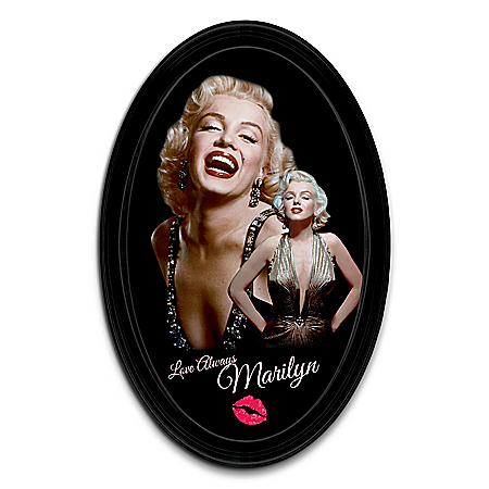 Love Always, Marilyn Monroe Framed Oval-Shaped Collector Plate
