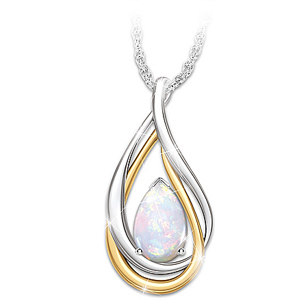 With You Always Teardrop Remembrance Pendant Necklace