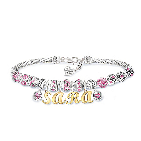 My Granddaughter, My Love Personalized Birthstone Bracelet With Heart-Shaped Charm – Personalized Jewelry