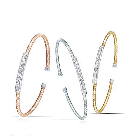 Charles Garnier Weave Design Solid Sterling Silver Bracelets