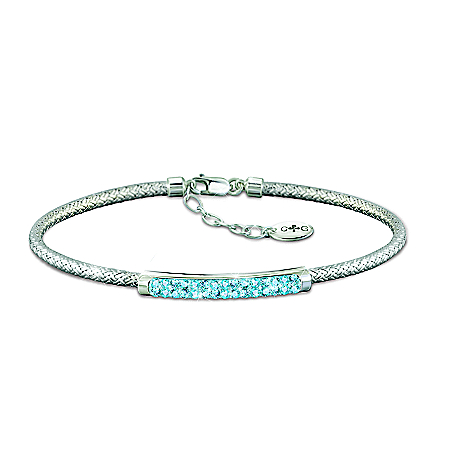 Classic Beauty Personalized Birthstone Bracelet With Signature Charles Garnier Weave Design – Personalized Jewelry