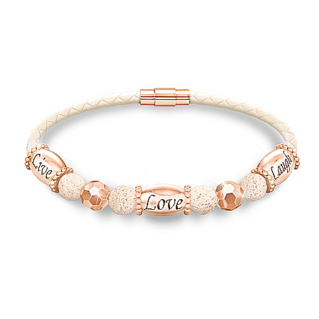 Aromatherapy Copper Bracelet With Lavender Essential Oil