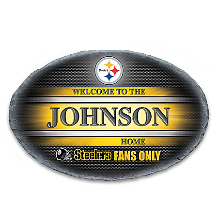 Pittsburgh Steelers Personalized NFL Outdoor Welcome Sign