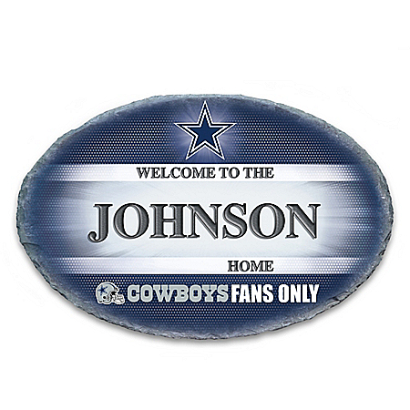 Dallas Cowboys Personalized NFL Outdoor Welcome Sign