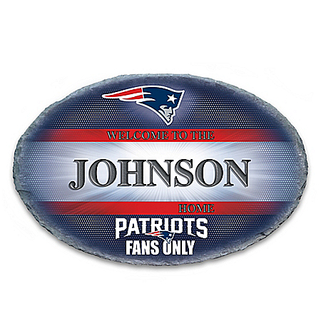 New England Patriots Personalized NFL Outdoor Welcome Sign