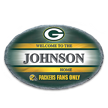 Green Bay Packers Personalized NFL Outdoor Welcome Sign