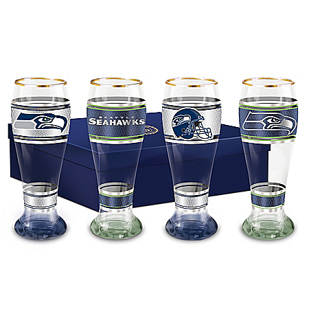 Seattle Seahawks Four-Piece Pilsner Glass Set