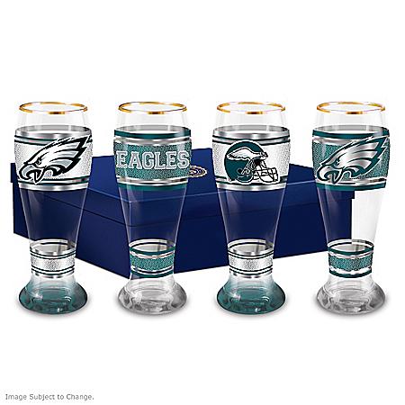 Philadelphia Eagles Four-Piece Pilsner Glass Set