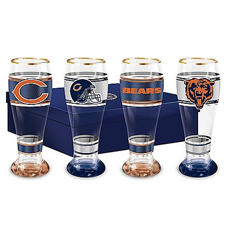 Chicago Bears Four-Piece Pilsner Glass Set