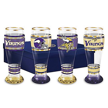 Minnesota Vikings Four-Piece Pilsner Glass Set