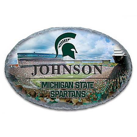 Michigan State University Spartans Personalized Outdoor Welcome Sign