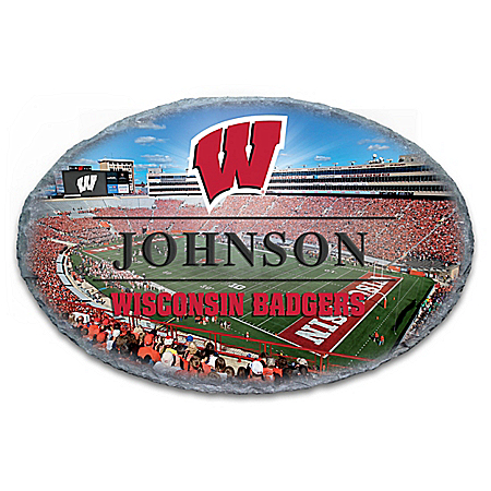 University of Wisconsin Badgers Personalized Outdoor Welcome Sign