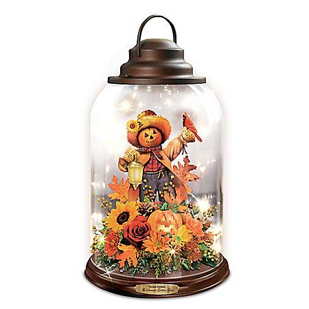 Thomas Kinkade Season's Golden Glow Table Centerpiece