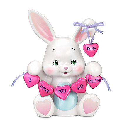 Personalized Musical Bunny Figurine For Granddaughters