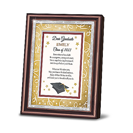 Dear Graduate Personalized Inspirational Poem Frame