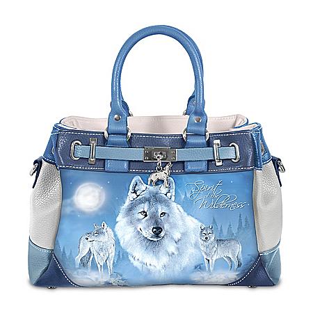 Eddie LePage Wolf Art Women's Fashion Handbag