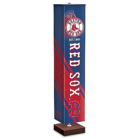 Boston Red Sox MLB Floor Lamp With Foot Pedal Switch