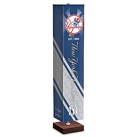 New York Yankees MLB Floor Lamp With Foot Pedal Switch