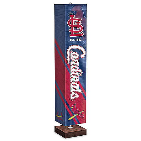 St. Louis Cardinals MLB Floor Lamp With Foot Pedal Switch