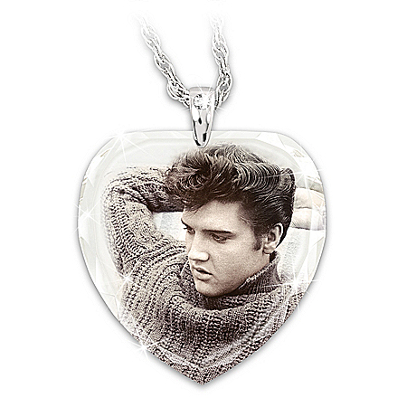 Elvis Love Me Tender Sterling Silver Pendant Necklace