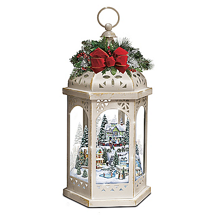 Thomas Kinkade Winter Wonderful Illuminating Lantern