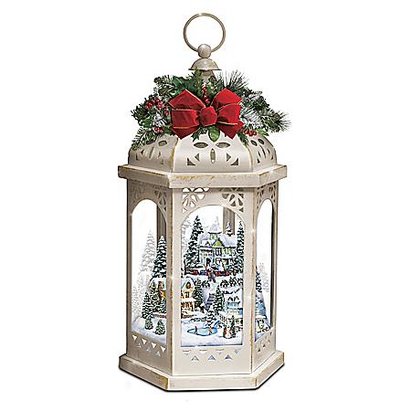 Thomas Kinkade Winter Wonderful Illuminating Lantern