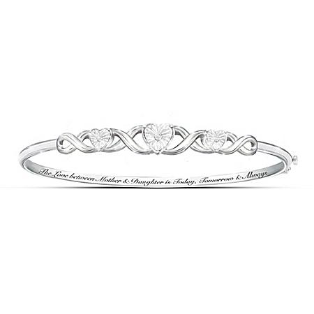 Mother & Daughter, Love Always Diamond Bangle Bracelet