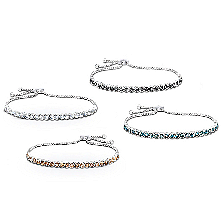 Lavish Luxury Diamonesk Bracelet: Choice Of 4 Colors