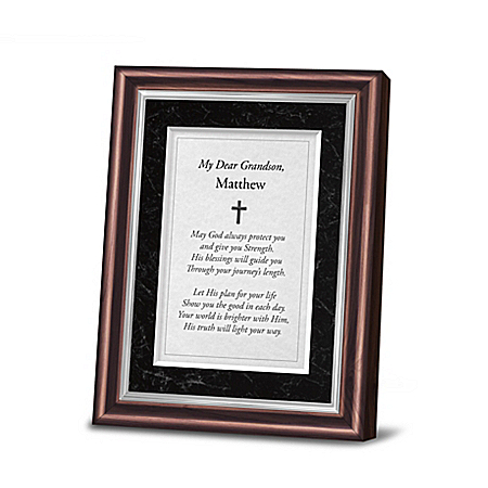 Religious Framed Poem Personalized With Grandson's Name