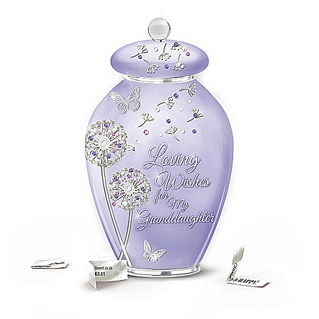 A Year Of Wishes Heirloom Porcelain Granddaughter Musical Wish Jar