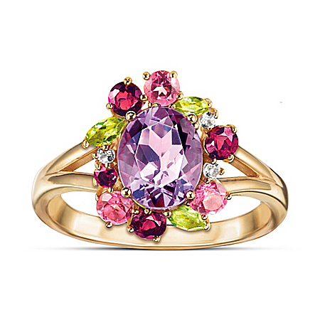 Tropical Oasis Ring With Over 2.5 Carats Of Gemstones